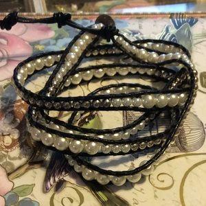 Jewelry - Boho pearl wrap bracelet